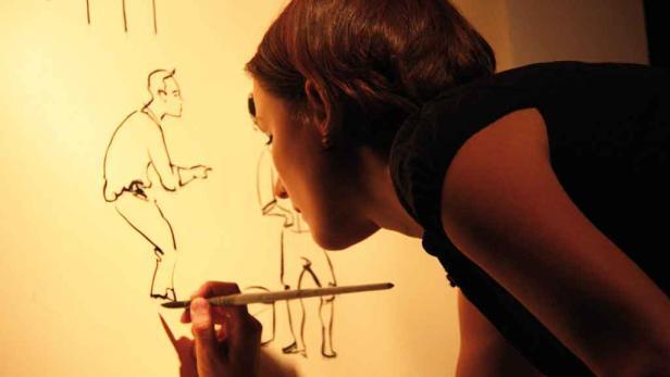 Barbara Steinitz' Illustration zur Geschichte von Sophie Meyer, die nie gelogen hat