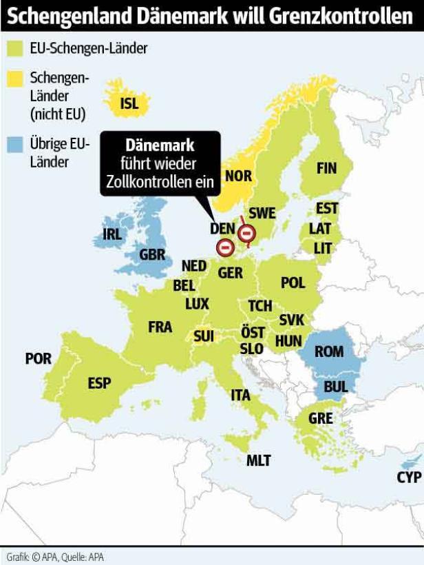 Dänemark kontrolliert wieder die Grenzen