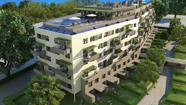 """""""Ökologiebetont"""": Wohnprojekt """"Green Village"""" entspricht den Kriterien als Passivhaus. 71 Wohnungen sind im Frühjahr 2012 bezugsfertig"""