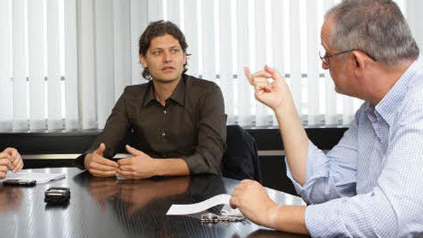"""Kurz, Kravagna: """"Die Diskussion ist sachlicher geworden"""", sagt der Staatssekretär. Der """"biber""""-Chef wünscht sich mehr """"Team-Spirit."""