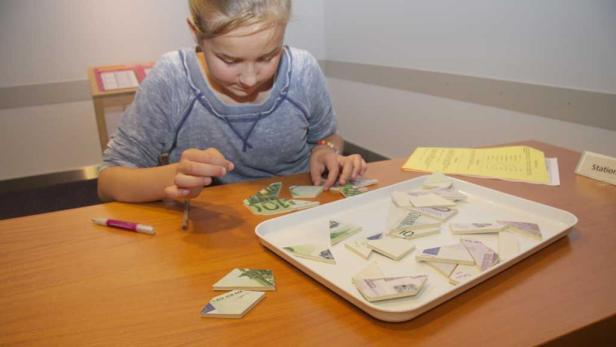 Alles mögliche über Geld lernen Kids auch bei der Kinder Business Week
