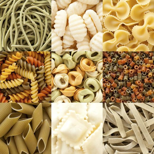 Assorted pasta composition