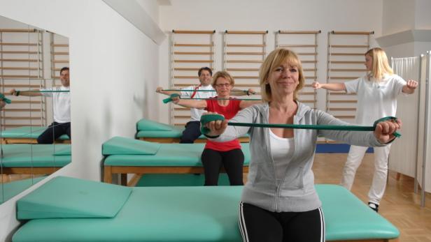 Wichtige Säule in der onkologischen Rehabilitation ist die Bewegung. Heilgymnastik und Physiotherapie stehen fast täglich am Programm.