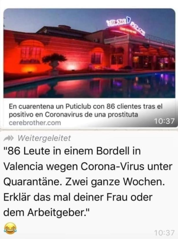 Valencia Quarantäne Bordell