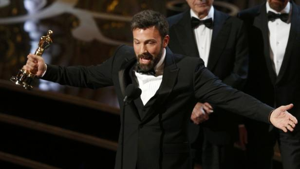 Ben Affleck accepts the award for best motion pict