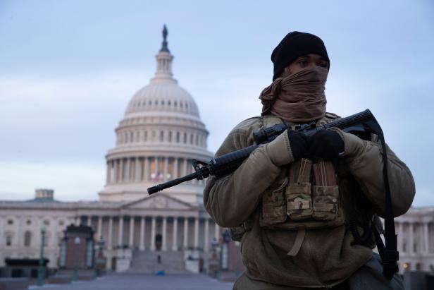 Security at the US Capitol ahead of inauguration of Joe Biden