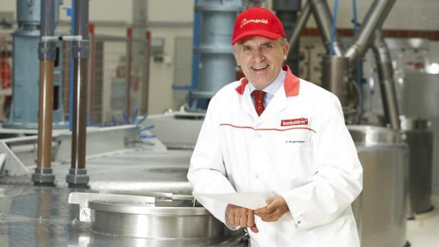 Kornspitz-Erfinder Peter Augendopler demonstriert Gelassenheit.
