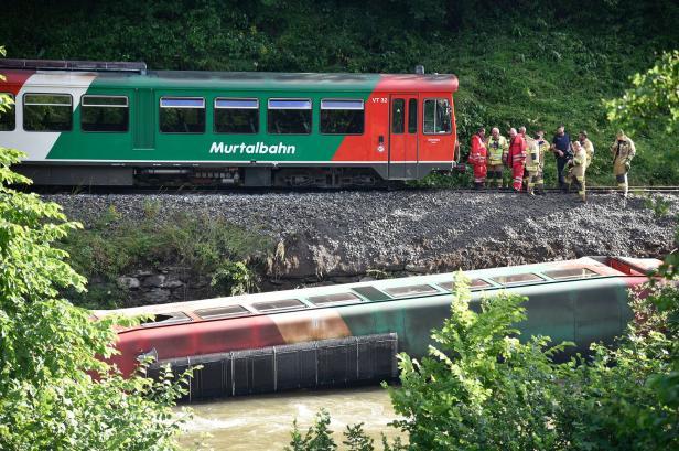 Murtalbahn mit 54 Kindern in Salzburg entgleist