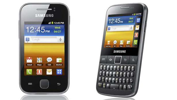 Samsung Galaxy W (li.) und Galaxy M Pro (re.).