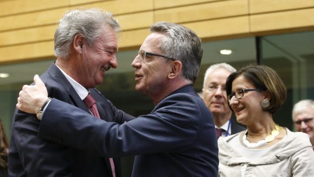Geschafft: Innenminister Asselborn, de Maizière und Mikl-Leitner (v.l.)