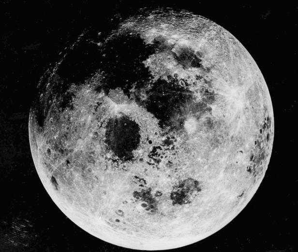 NASAFILE - This photo released by NASA on April 20, 1970 shows the moon as seen by the crew of Apollo 13. The North Pole is at the top of the photo. The Pentagon said Monday Dec. 2, 1996 that the unmanned Clementine spacecraft located a small lake-sized m