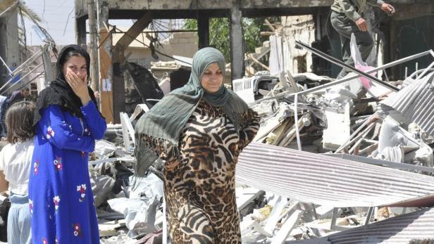 14 Menschen starben in Qamishli bei einem Selbstmordanschlag im Juni, hier begann die Flucht von fünf der 71 Toten von Parndorf