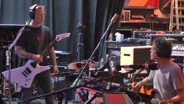 Füreinander geschaffen: Bei einem gemeinsamen Auftritt von Reed und Metallica in New York im Oktober 2009 entstand die Idee, auch weiterhin zusammen zu arbeiten.