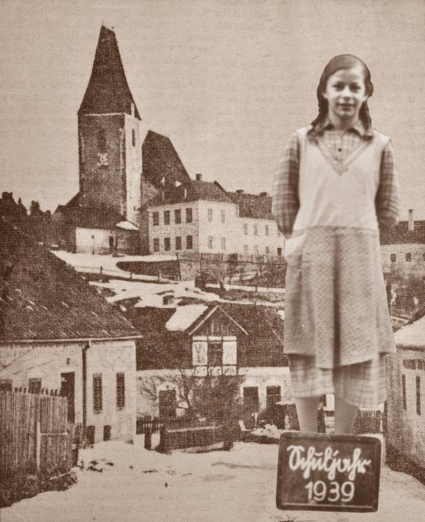 Geisberger als 12-jährige Schülerin