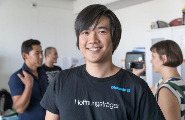 Einrichtungsleiter Huy-Hao Phan von der Diakonie
