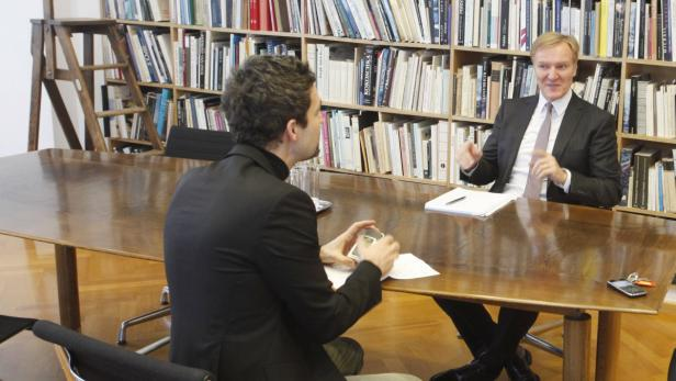 Albertina-Chef Schröder im Gespräch mit Michael Huber.