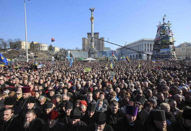Antikriegsdemo in Kiew