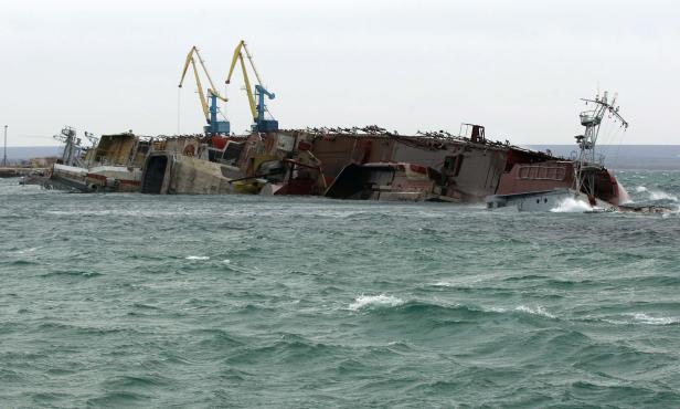 Schiff versenkt: So blockiert die russische Flotte ukrainische Schiffe