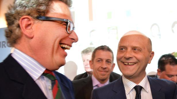 Andreas Schöppl (FP, r.) und Christoph Ferch (Bürger für Salzburg)