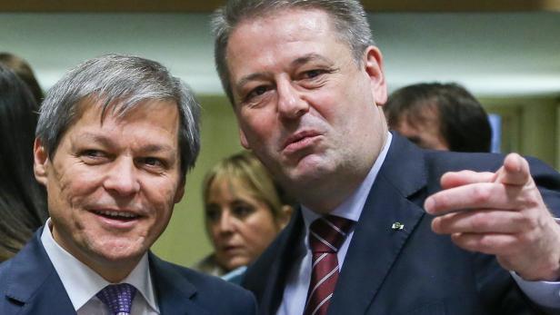 EU-Kommissar Ciolos (l.) und Minister Rupprechter