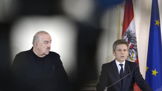 Georg Springer und Josef Ostermayer bei der Pressekonferenz am Dienstag