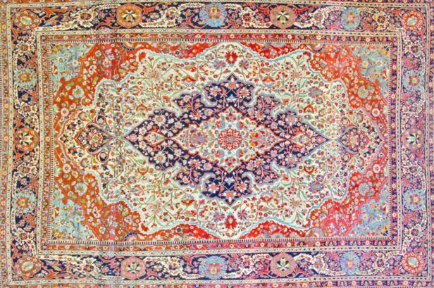 Dieser rund 140 Jahre alte Teppich aus Persien ist etwa 20.000 bis 30.000 Euro wert