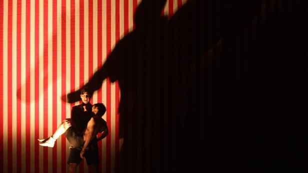 "Hosemann performs during a dress rehearsal of ""Die"