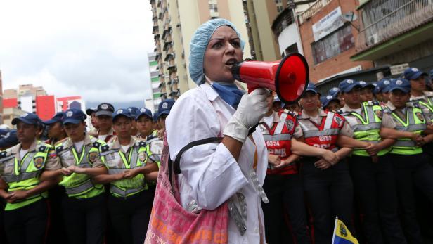 Protest gegen Versorgungskrise in Caracas, Februar 2017