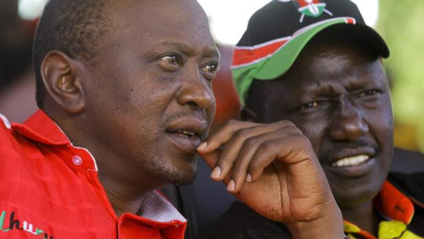 Ihre Kandidatur ist umstritten: Uhuru Kenyatta (l.) und William Ruto