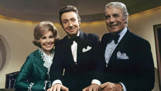 Gefeierter Gast in TV-Shows: Heesters mit Peter Alexander und Anneliese Rothenberger, 1970
