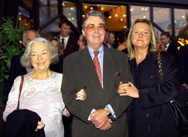 Peter Alexander mit Frau Hilde und Tochter Susanne