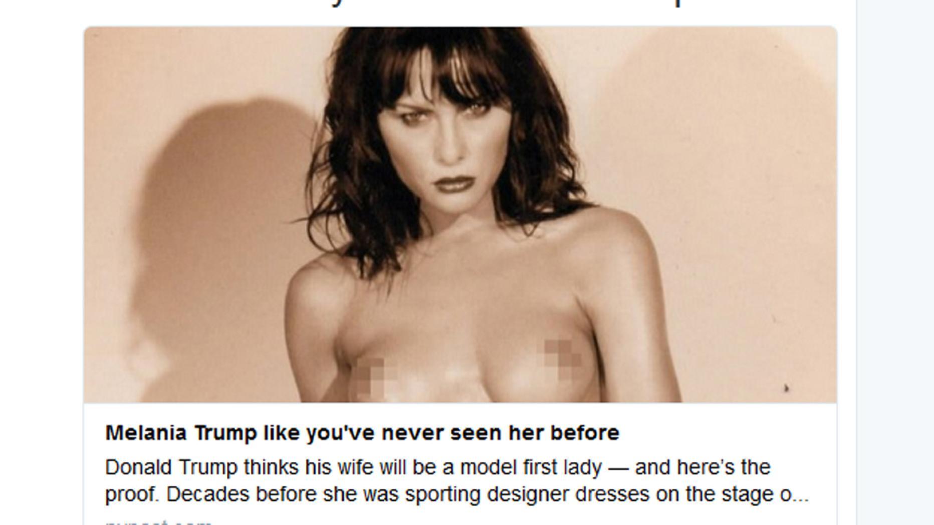 Bilder melania trump von nackt Melania Trump: