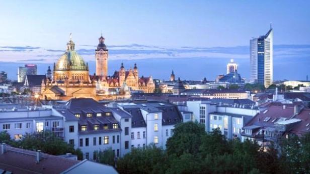 Panorama von der Musikstadt Leipzig