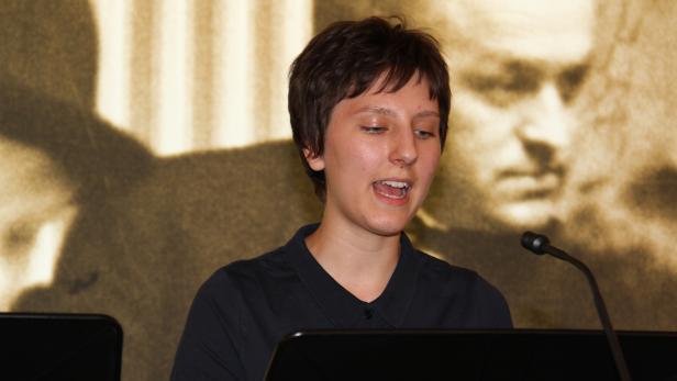 Hannah Oppolzer bei der Probe am Vortag