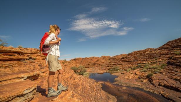 Silke Kranz ist in Australien unterwegs und betreut die Mountainbiker