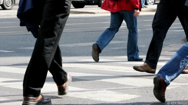 Fußgänger tun etwas für ihre Gesundheit