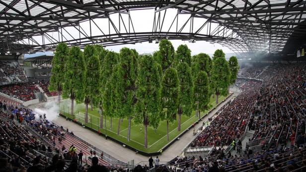 Fussballfans Sehen Wegen Wald Im Stadion Rot Kurier At