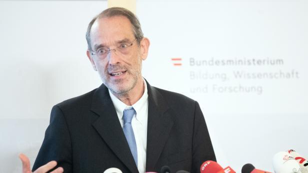 Bildungsminister Heinz Faßmann präsentierte die Matura-Änderungen