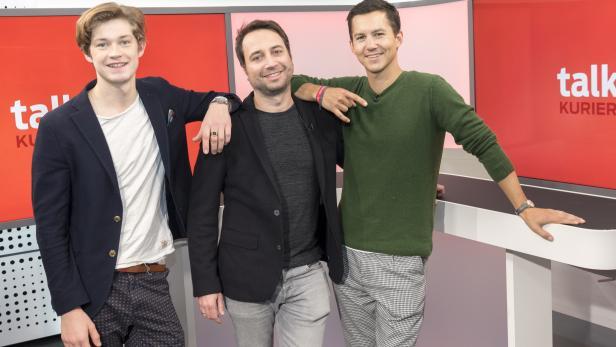 KURIER-Talk mit Damian Hardung, Felix Binder, Tim Oliver Schultz
