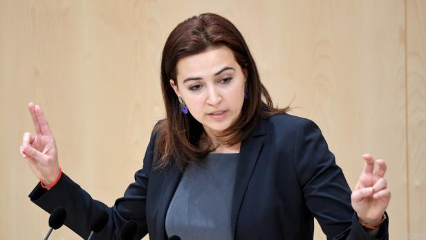 Alma Zadic bemängelte u.a. das Überwachungspaket von Türkis-Blau