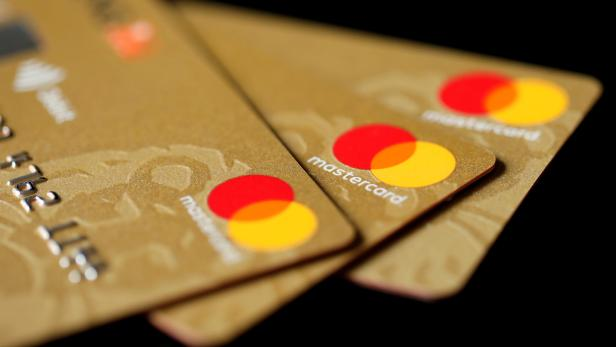FILE PHOTO: Mastercard Inc. credit cards are displayed in this picture illustration