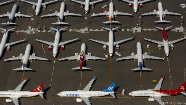 Flugzeuge des umstrittenen Typs 737-Max von Boeing