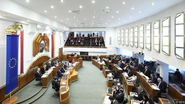 Der burgenländische Landtag löst sich auf