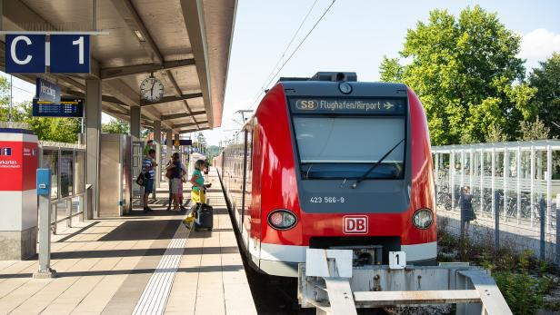 S-bahn train at a station