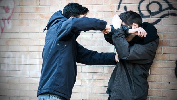 Bullying scene between two adult teenagers