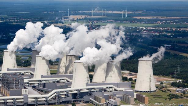 Braunkohlekraftwerk in Jänschwalde in Deutschland