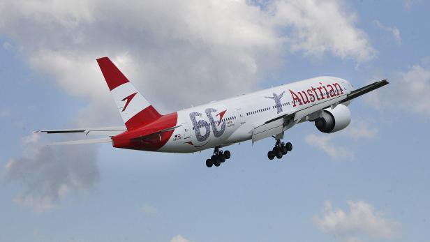 Landung der Boeing 777 OE-LPF