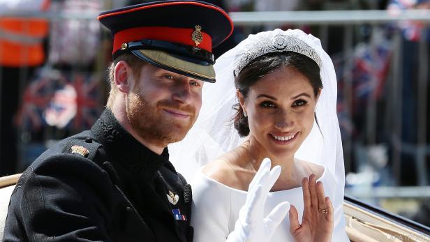 Harry und Meghan bei ihrer Hochzeit im Mai 2018