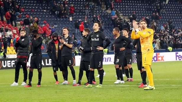 FUSSBALL: UEFA EUROPA LEAGUE / SECHSZENTELFINALE / RÜCKSPIEL / FC RED BULL SALZBURG - SGE EINTRACHT FRANKFURT