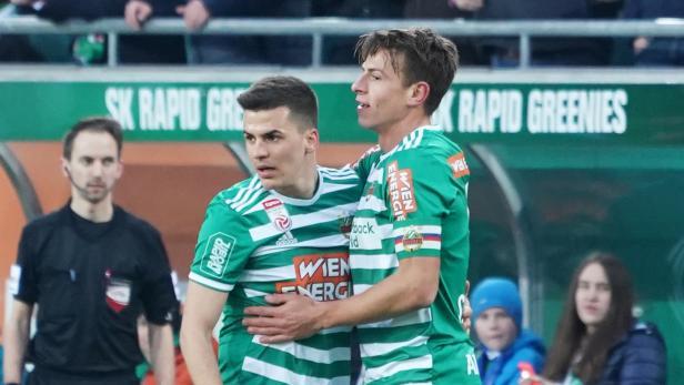 Fu§ball, SK Rapid Wien - SV Mattersburg